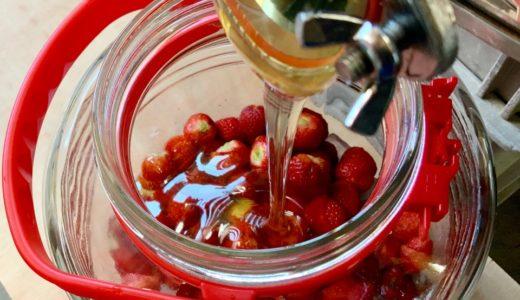 しぼりたてハチミツと旬のイチゴのコラボ